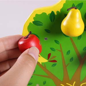 Image 4 - Montessori Wooden Magnetic Apple Pear Tree Math Toys Early Learning Educational Wooden Toys for Children Boys Birthday Gifts