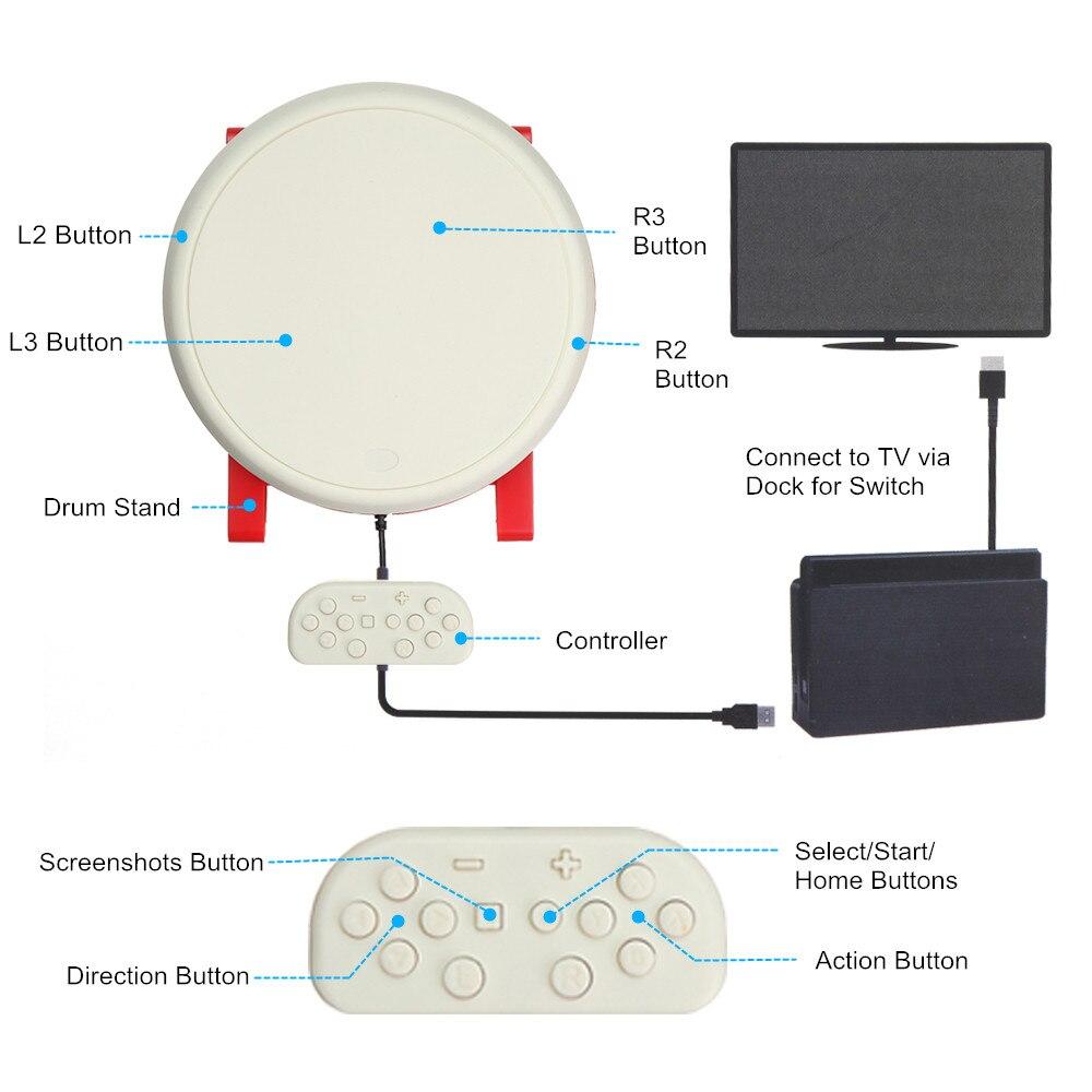 Jeu de bâtons de batterie de jeu vidéo USB pour contrôleur n-switch Console de jeu vidéo accessoires de jeu DC 5V pour tambour Taiko - 3