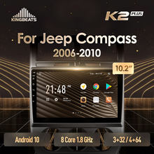 KingBeats Android 10 Octa-Core head unit HU 4G in Dash Car Radio Multimedia Video Player Navigation GPS For Jeep Compass 1 MK