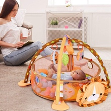 3-In-1 Mat Activity-Mat Crawling-Blanket Play Rug Gym Baby Infant Kids Children for Lion