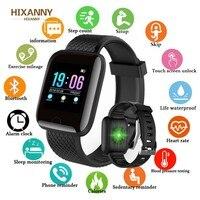 Bluetooth relógio inteligente à prova dwaterproof água homem pressão arterial smartwatch feminino monitor de freqüência cardíaca fitness rastreador esporte para android ios