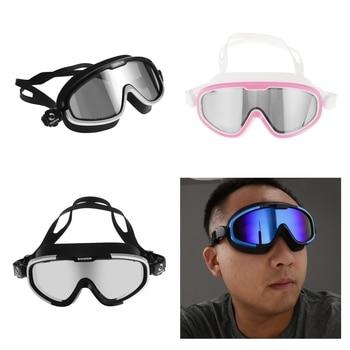 Marco grande Anti niebla UV impermeable gafas de natación para hombres y mujeres adultos Unisex-Varios Colores