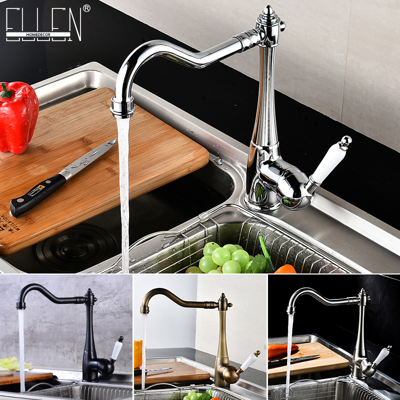 Kitchen Faucets Deck Mounted Mixer Tap 360 Degree Crane For Kitchen Faucet Rotation Spray Mixer Tap Torneira Cozinha Elk45