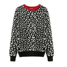 2020 korean jumper Autumn winter Knitted Sweater Women oversized sweaters female leopard jacquard fashion wool blends pullover