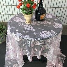 Пасхальная скатерть, кружевная прочная домашняя скатерть, уличная Декоративная скатерть, пылезащитный чехол для хранения, украшение стола E3