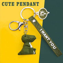 Key Pendant Cartoon Geometric Animals Keychain Couple Car Key Chain Backpack Hanging Gift Creative Cute Small Resin Doll Love(China)