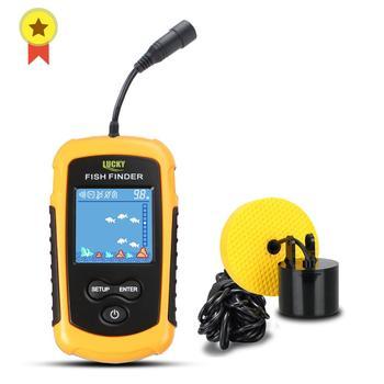 FFC1108-1 Heißer Verkauf Alarm 100M Tragbare Sonar LCD Fish Finder Angeln locken Echolot Angeln Finder See Meer Angeln