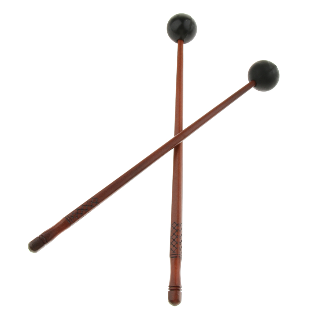1 Pair Wooden Tongue Drum Sticks Mallets Beaters Percussion Instrument Accessories