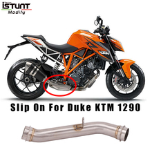 цена на 2014 2015 2016 For KTM 1290 R Super Duke R Motorcycle Full Exhaust Escape Modified Delete Middle Link Pipe Without Muffler