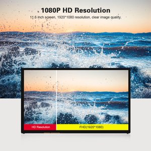11.6 Inch Portable IPS HD Monitor 1920*1080P USB HD Monitor Power Compatible with Raspberry Pi NVIDIA Windows PC No Touchscreen