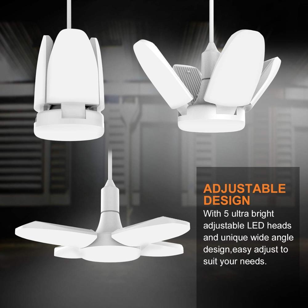 LED Garage Lights,60W E27 4500LM Deformable Ceiling Lighting