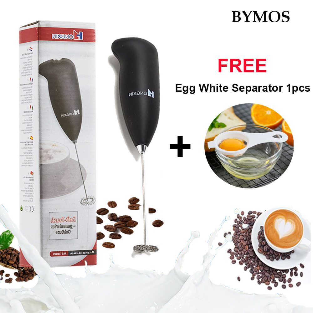 Elektrische Milchaufschäumer Automatische Handheld Kugelsichere Schaum Kaffee Maker Schneebesen Cappuccino Edelstahl-düse Küche Kaffee Schneebesen Werkzeug
