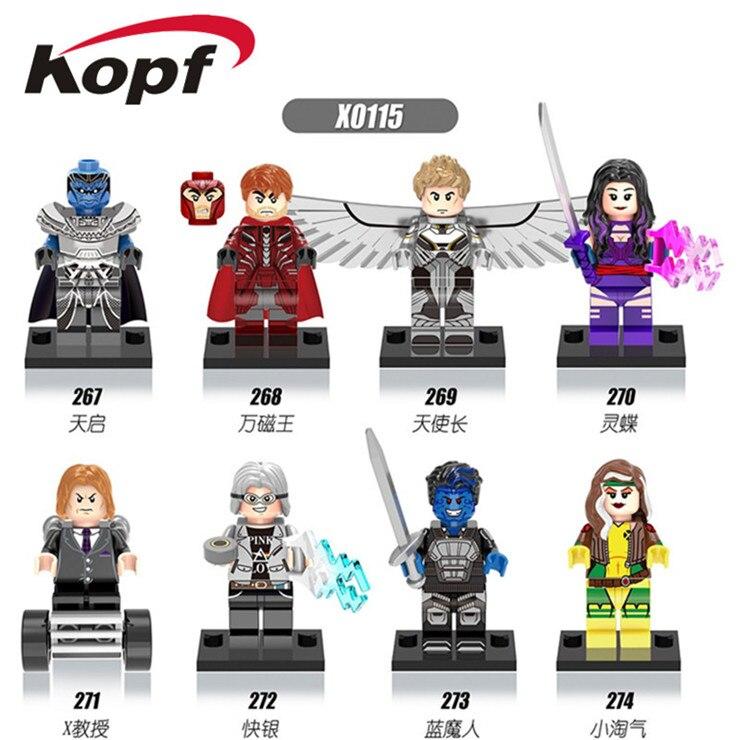KOPF Super Heroes Warrior X-Man Apocalypse Professor X Magneto Sabretoot Bricks Building Blocks Educational Children Toys X0115