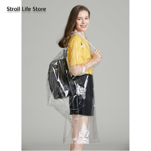 Clear Adult Raincoat Women Hiking Long Rain Coat Plastic Suit Transparent Poncho Electric Car Woman Jacket Impermeable Rain Gear 2