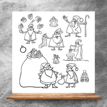 ZhuoAng Santa Claus Clear Stamps/Silicone Transparent Seals for DIY scrapbooking photo album Clear Stamps