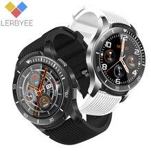 Lerbyee zegarek do Fitness GT106 wodoodporny ciśnienie krwi pełny ekran dotykowy inteligentny zegarek sterowanie muzyką Smartwatch nowy dla iOS Android