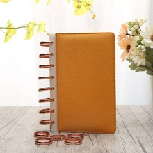 30PCS 35mm disc buckle hand book plastic accessories binding ring notebook loose-leaf button mushroom hole
