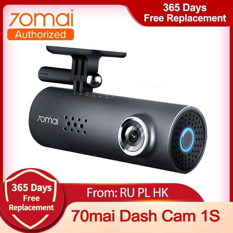 70mai Dash Cam 1S Видеорегистраторы для автомобилей Камера Wi-Fi 1080P HD Ночное видение g-датчика 70 Mai 1S Dashcam видео Регистраторы Английский Голос Управле...