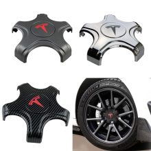 Five Claw Wheel Center Caps Hub Cover for Tesla Model 3 Lug Nut Covers Model 3 Hubcaps Car Decoration Modification ABS 2017-2021