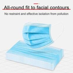 50 sztuk Anti-dust Safe oddychająca Maska do pielęgnacji twarzy i ust jednorazowe maski dla dorosłych pętla do uszu Maska do twarzy filtr z włókniny 6