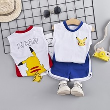 Baby Kids Boys Clothes Sets Pokemon Summer Casual Cotton T-shirt + Pants 2PCS Pikachu Toddler Children Clothing Suit Outfits 1 2 3 4 year boys clothes 2018 new cotton casual kids outfits star shirts stripe pants 2pcs baby children clothing set