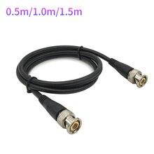 0.5M/1M/1.5M BNC erkek adaptör kablosu için güvenlik kamerası BNC konnektör kablosu kamera BNC aksesuarları