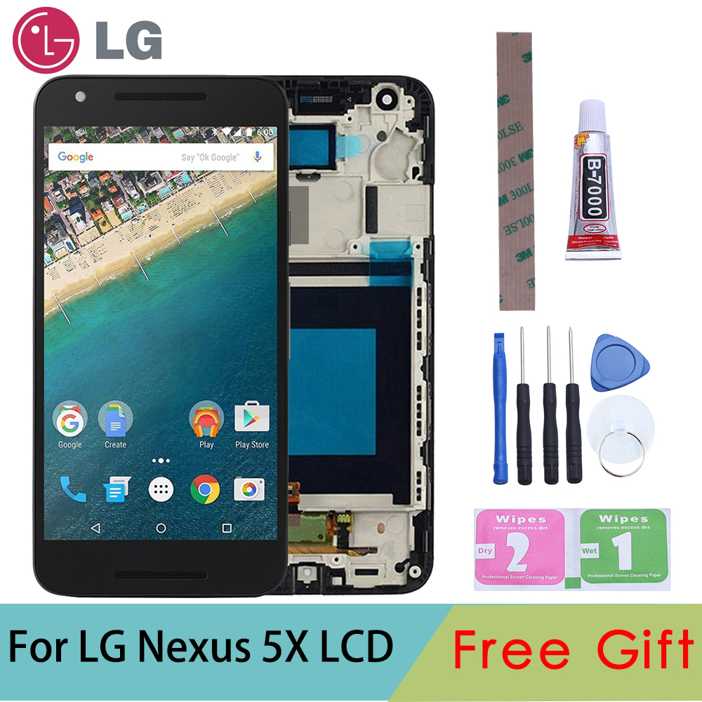 "Tested Original 5.2"" Black Display For LG Nexus 5X LCD Touch Screen Digitizer Replacement For LG Nexus 5X Display H791