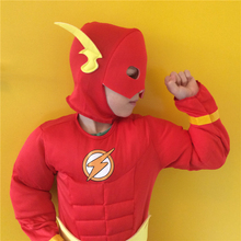 Allen-Costume The Flash Superhero Barry Party-Performance Kids Boys Gift Holiday Cool