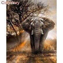 Картина по номерам Детский слон акриловая краска украшение для