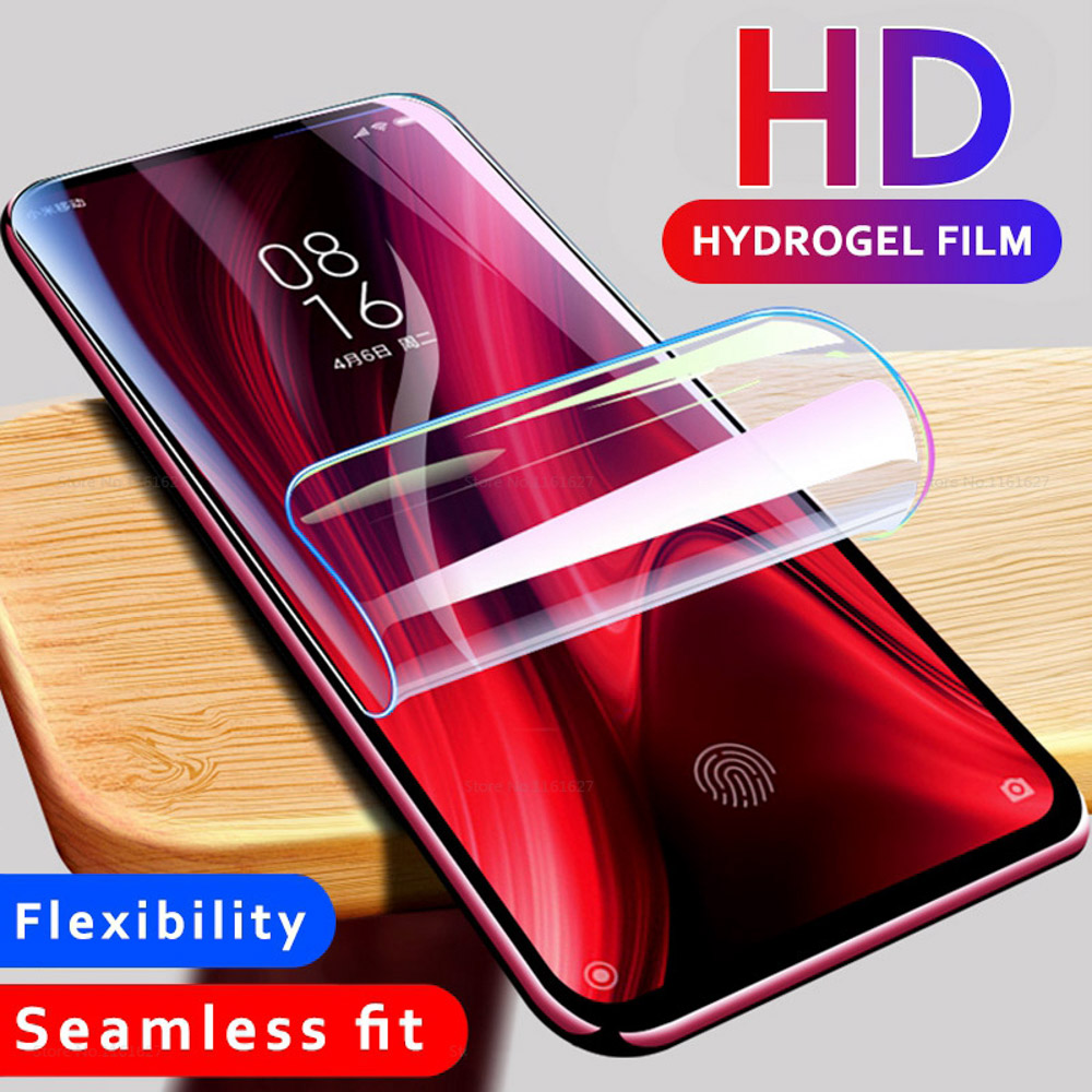 10D Full Cover Hydrogel Film For Realme X2 5 3 2 Pro XT X Lite C2 Screen Protector On OPPO Reno 10x Zoom 2 Protective Film Guard
