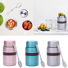 Thermos Food Jars Lunch Container Vacuum Insulated Bento Box Stainless Steel Snack Storage Flask With Foldable Spoon