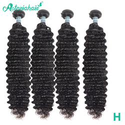 Mechones de cabello humano de onda profunda brasileño de pelo Asteria 4 piezas de extensiones de cabello Remy negro Natural de 10-30 pulgadas envío gratis