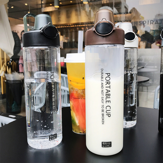 Explosion Sports Water Bottles 800ML Protein Shaker Outdoor Travel Portable Leakproof PC plastic Drink Bottle Transparent Bottle 3