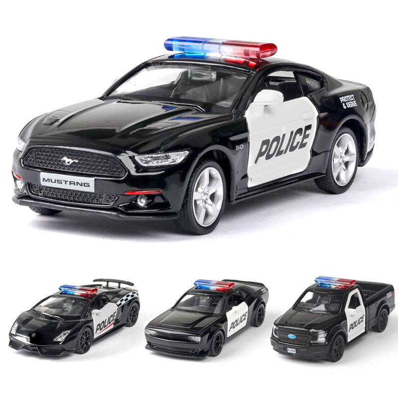 1:36 Lamborghinis Mustang Ford Dodge Police-Car Model Alloy Car Car Model Pull Back Children Toys Free Shipping