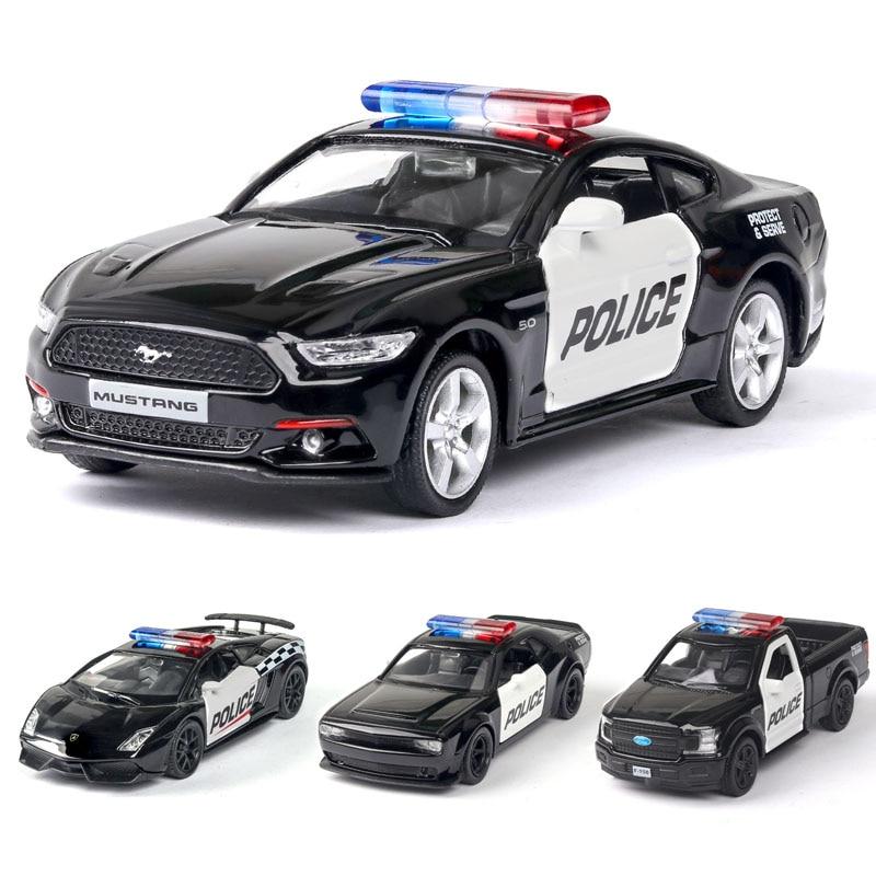 1:36 Lamborghinis Mustang Ford Dodge Police-Car Model Alloy Car Car Model Pull Back Children Toys Free Shipping