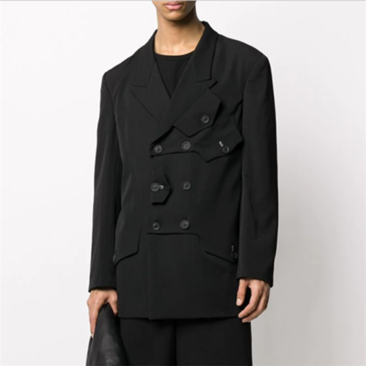 S-6XL!!2020 Spring Europe and the United States personality youth suit fashionable men casual loose single suit coat .