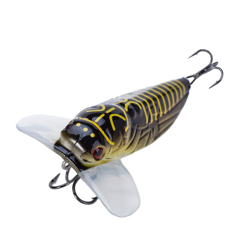 1PCS Fishing Lure Cicada Floating Artificial baits Bait Pesca Fish Popper Lure Topwater Stomach Insect 55mm 8.5g
