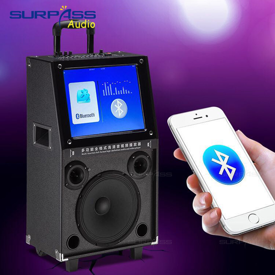 Portable High Quality System 12Inch Woofer Trolley Karaoke Speaker Outdoor Speaker with 15inch HD Touch Screen 3
