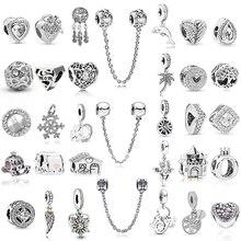 2 шт./лот, подвеска с серебряной пластиной, DIY, подвеска с бусинами, для изготовления мужских и женских браслетов, ювелирные подарки, для Pandora ...