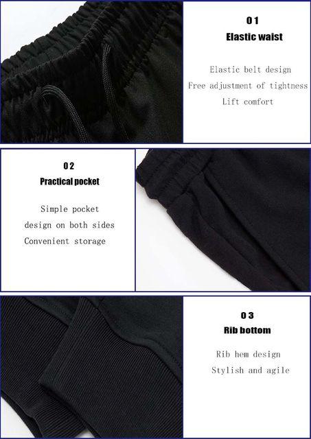 Pantalones de algodón de los hombres de culturismo de gimnasio
