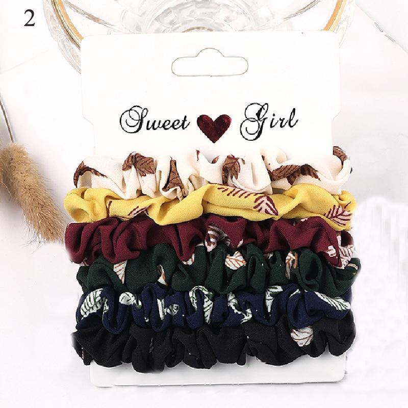 1 комплект резинки для волос кольцо для волос карамельного цвета Веревка для волос осень-зима женский хвостик аксессуары для волос 4-6 шт. ободки для девочек Подарки - Color: New 2