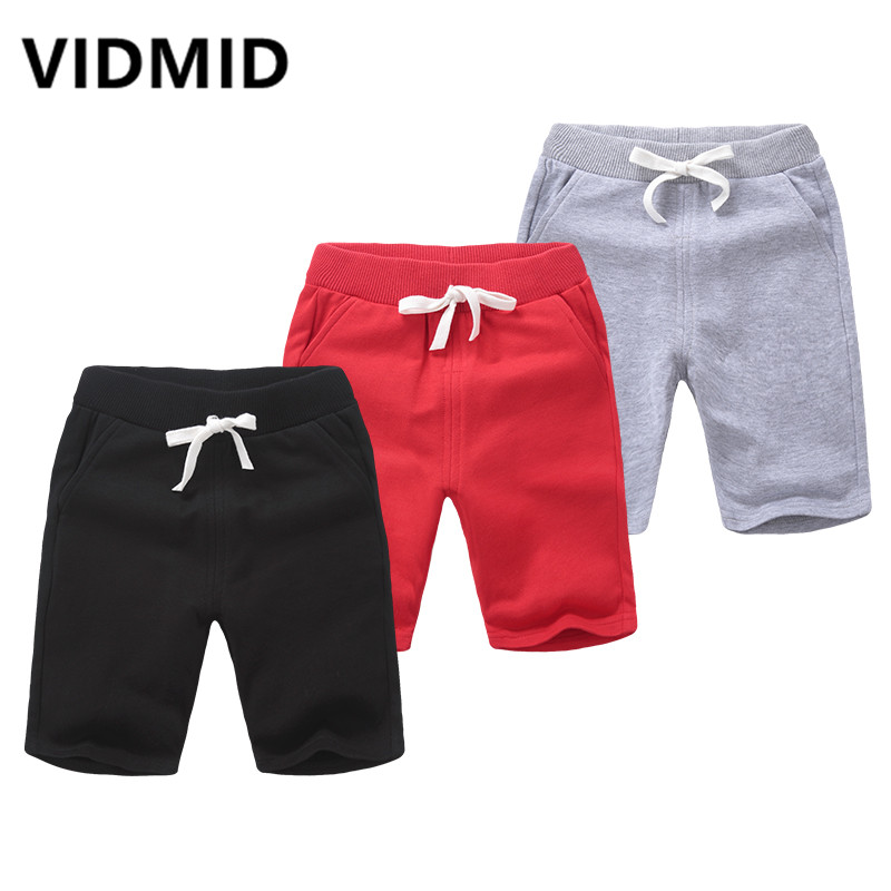 VIDMID Solid Colors Kids Trousers Girls Clothes Children Shorts For Baby Boys Girls Children Cotton Shorts Trousers 4150 23