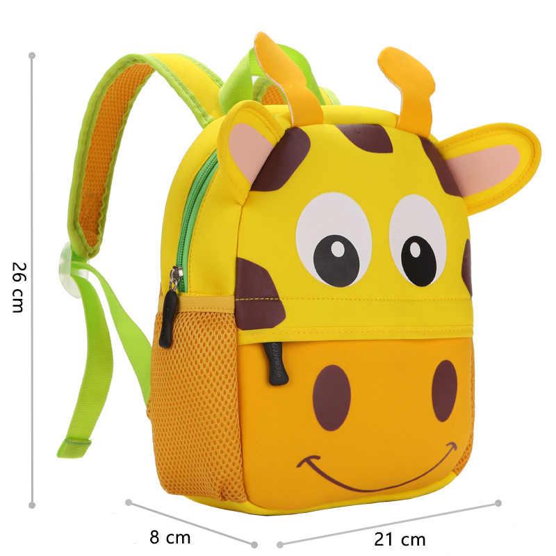 2019 New 3D Children School Bags for Girls Boy Children Backpacks Kindergarten Cartoon Animal Toddle Kids Backpack for 2-5 years