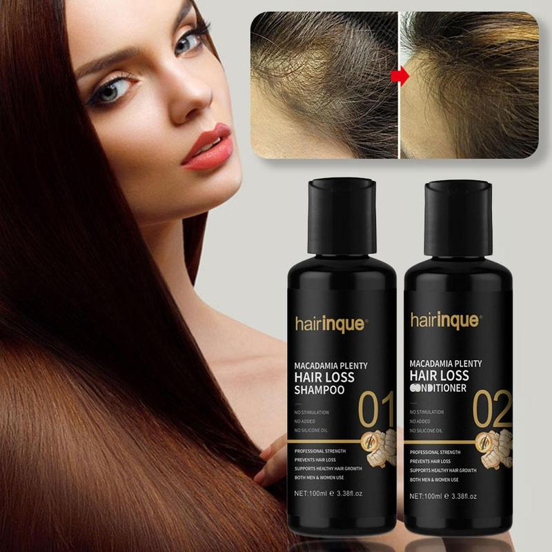 Macadamia Plenty Hair loss Shampoo Conditioner Set For Hair Regrowth Repair Hair root Thicken Hair Care Set image