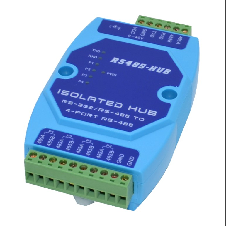 Industrial Level Optoelectronic Isolation 4-way RS485 Collector Sub Sharer 485 Divider 485hub 1 In 4 Out