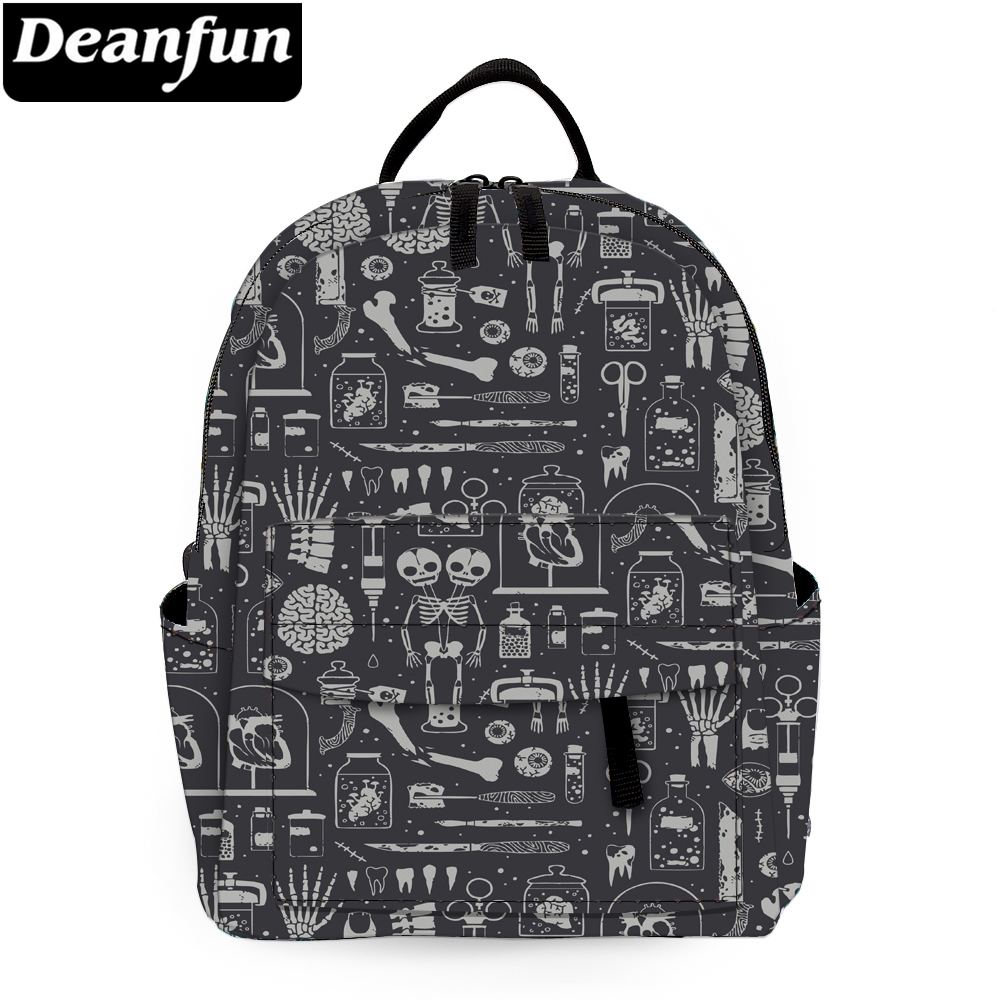 Deanfun Mini Backpack for girls skulls printed shoulder bag cute kid backpack purse backpack MNSB-21