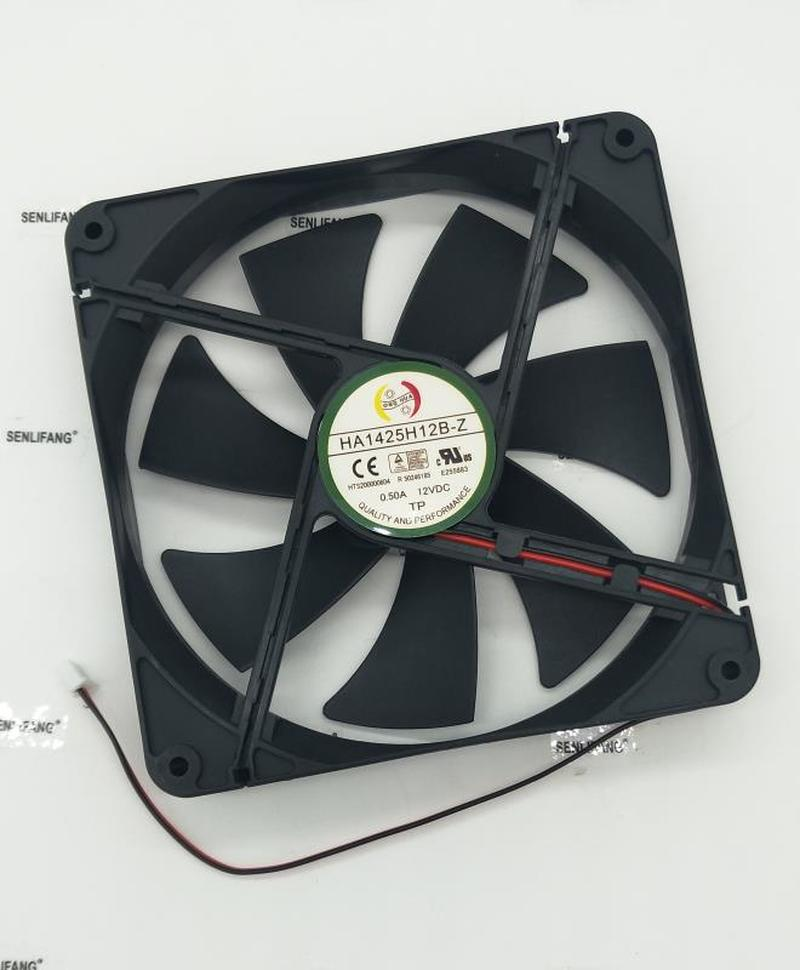For Original GP 14025 DC12V 0.50A 14CM 140*140*25MM HA1425H12B-Z 2 Wire Fan Free Shipping