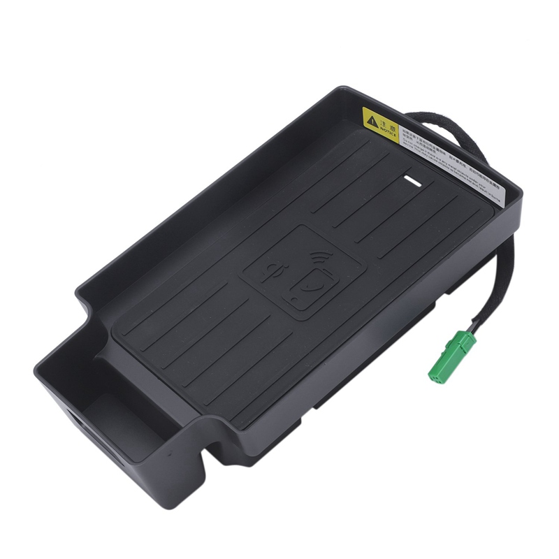 10W Auto Mobiele Telefoon Qi Draadloze Opladen Pad Module Console Opbergdoos Voor Audi Q3 2013 2019 Auto accessoires - 6
