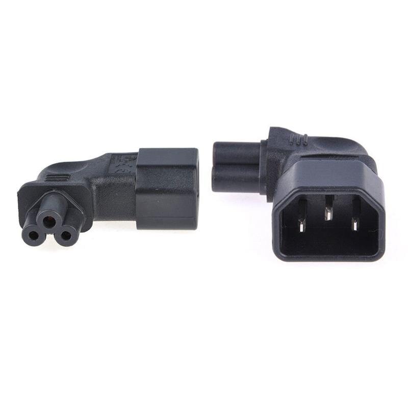 IEC 320 C14 до C5 90 градусов левый угол адаптер питания конвертер мужской/женский