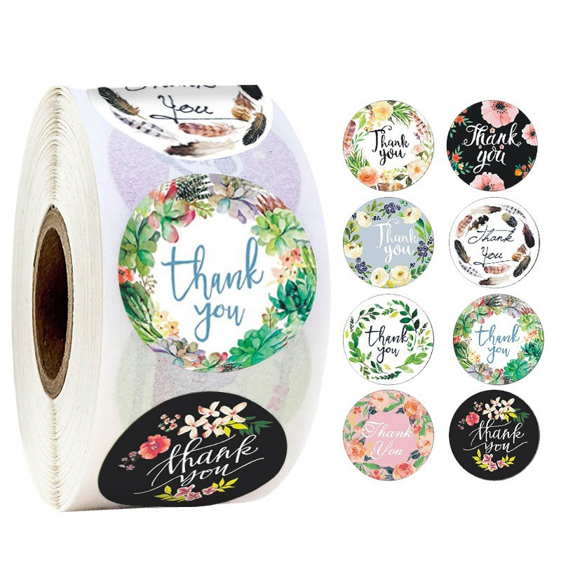 500pcs Thank You Stickers Seal Labels Scrapbook Handmade Sticker Wedding Party Christmas Gift Bag Decorations 1